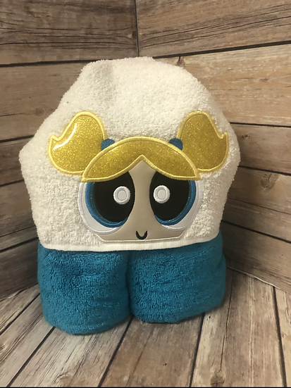 Bubbles Child Size Hooded Towel - Ready to Ship