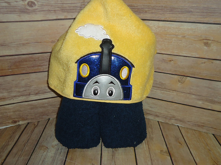Thomas the Train Inspired Hooded Towel