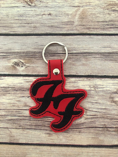 FF Band Embroidered Key Chain