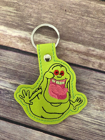 Slimer Embroidered Key Chain