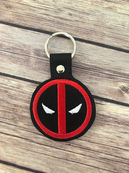 Deadpool Embroidered Key Chain