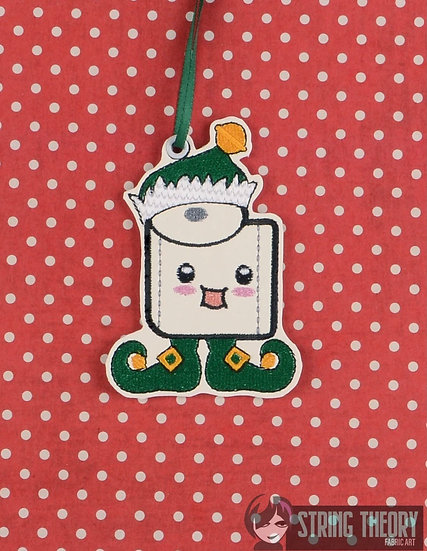 Toilet Paper Elf Ornament - Made to Order
