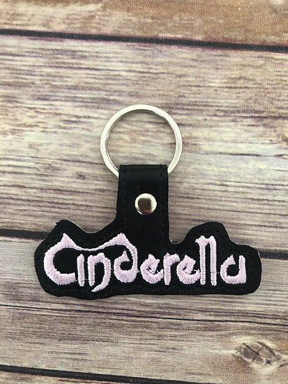Cinderella Band Embroidered Key Chain