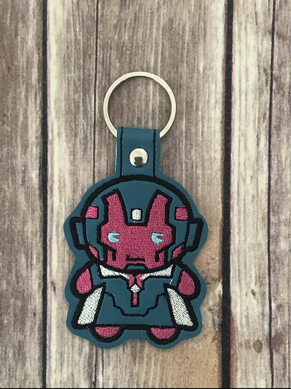 Vision Chibi Embroidered Key Chain