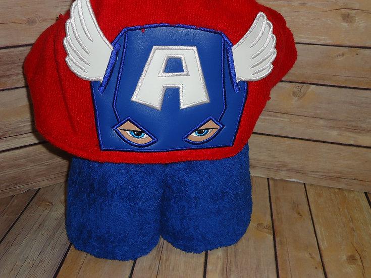 Captain America 3D Hooded Towel
