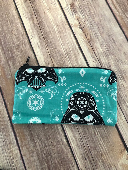 Star Wars Sugar Skull Vader Zipper Pouch - Ready to Ship