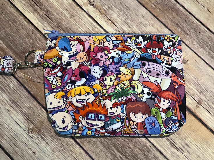 90's Characters Themed Wristlet - Ready to Ship