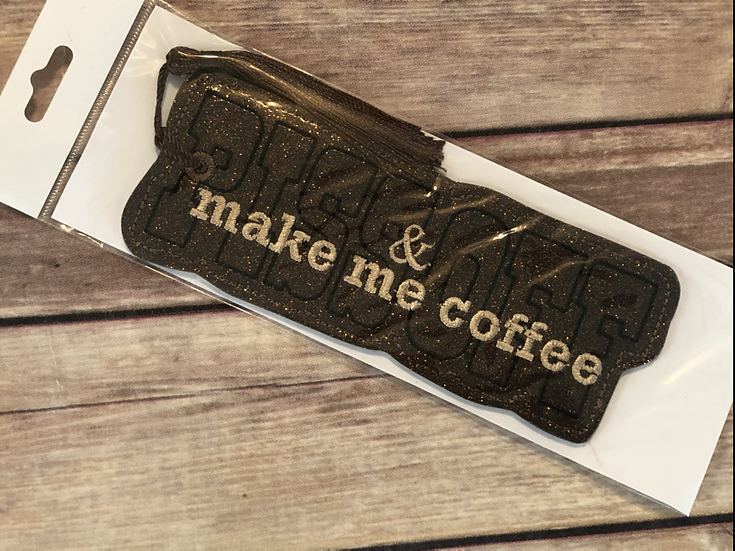 Piss Off & make me coffee Vinyl Bookmark - Ready to Ship