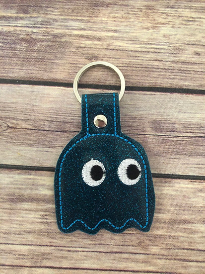 Pac-Man Ghost Embroidered Key Chain