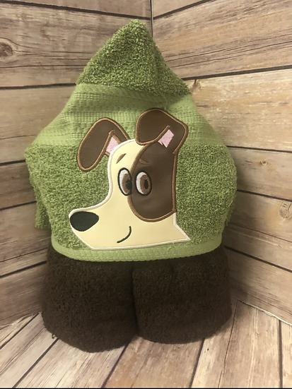 Max Terrier Dog Child Size Hooded Towel - Ready to Ship