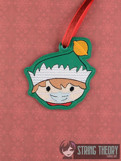 Masked Elf Ornament - Made to Order