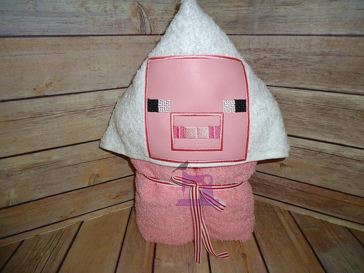 Minecraft Pig Hooded Towel