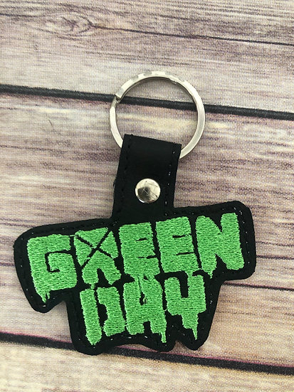 Green Day Embroidered Key Chain