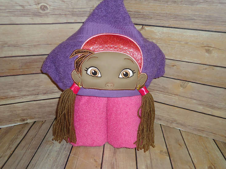 Izzy the Pirate Inspired 3D Hooded Towel