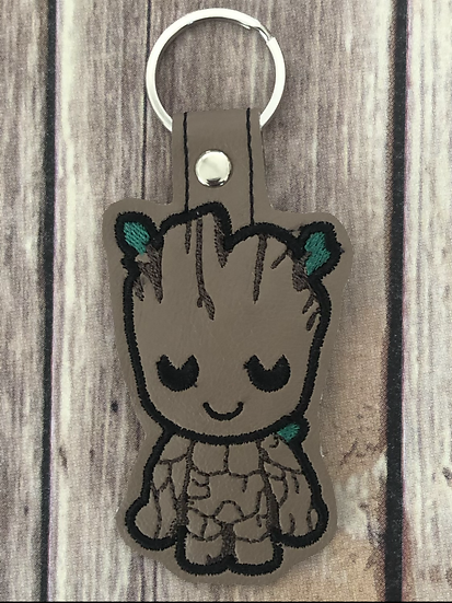 Groot Chibi Embroidered Key Chain