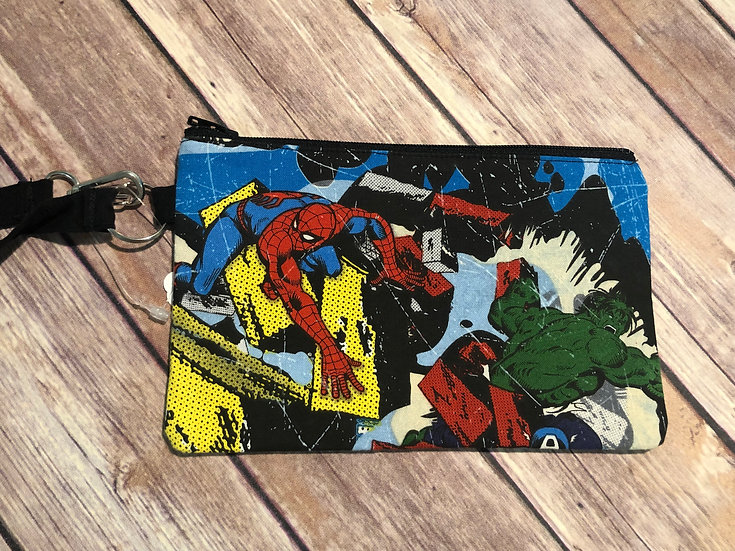 Marvel Characters Wristlet - Ready to Ship