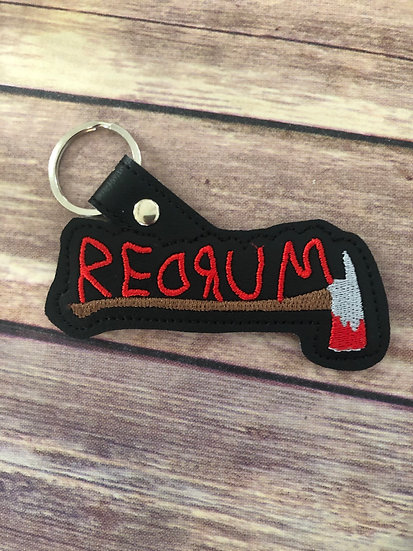 Redrum Embroidered Key Chain