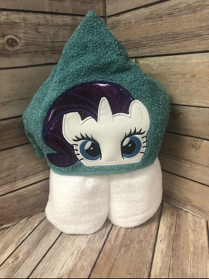 Rarity Child Size Hooded Towel - Ready to Ship