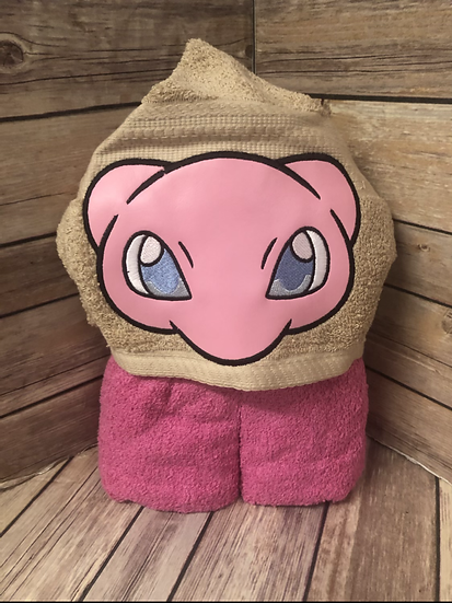 Mew Child Size Hooded Towel - Ready to Ship