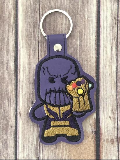 Thanos Chibi Embroidered Key Chain