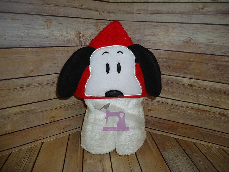 Peanut Dog 3D Hooded Towel