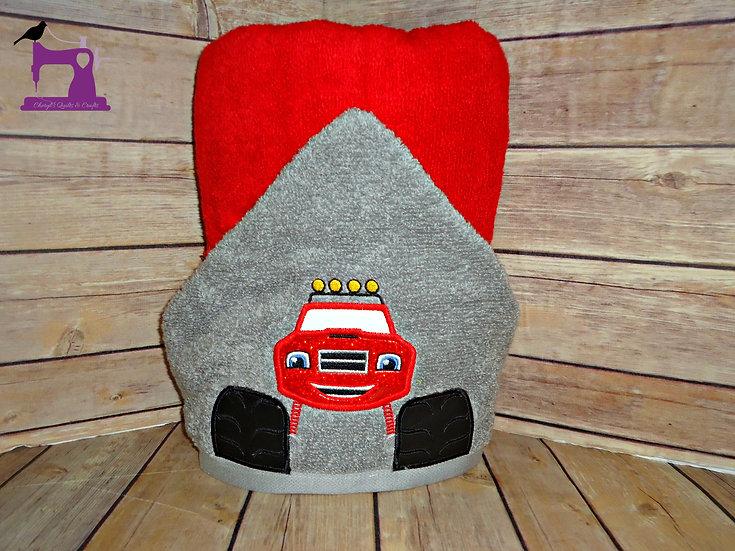 Monster Truck Blaze Hooded Towel