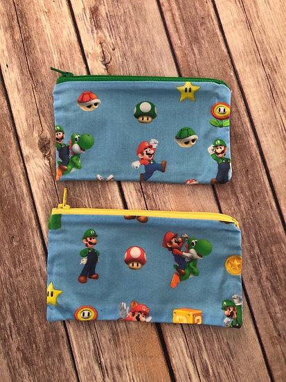 Mario Bros Zipper Pouch - Ready to Ship