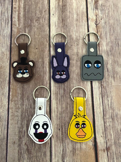 Five Nights at Freddy's Embroidered Key Chain
