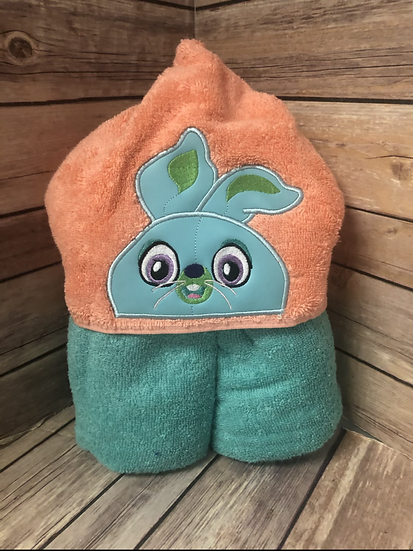 Bunny Child Size Hooded Towel - Ready to Ship