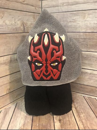 Star Wars Darth Maul Hooded Towel