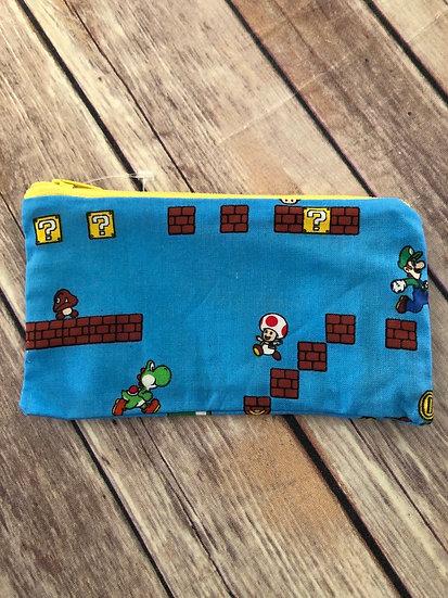Super Mario Bros  Zipper Pouch - Ready to Ship
