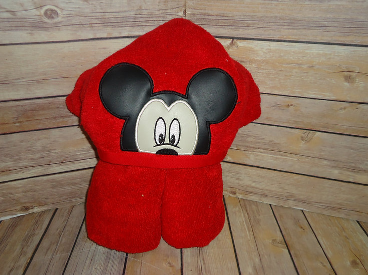 Mickey Mouse Inspired Hooded Towel