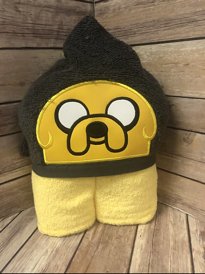 Jake the dog Child Size Hooded Towel - Ready to Ship