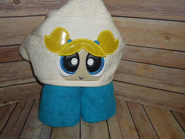 Powerpuff Girls Bubbles Inspired Hooded Towel