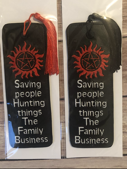 Saving people Hunting Things The Family Business Vinyl Bookmark - Ready to Ship