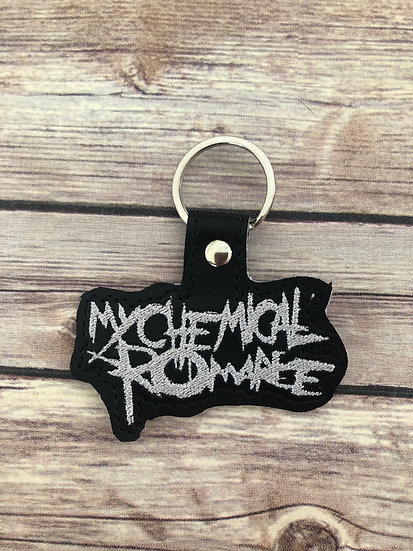 My Chemical Romance Embroidered Key Chain