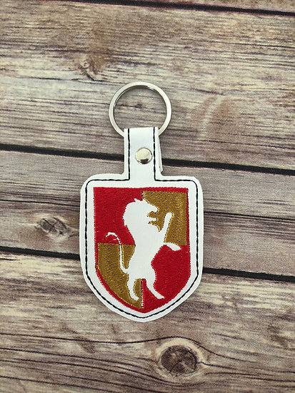 Spell Academy Lion House Embroidered Key Chain