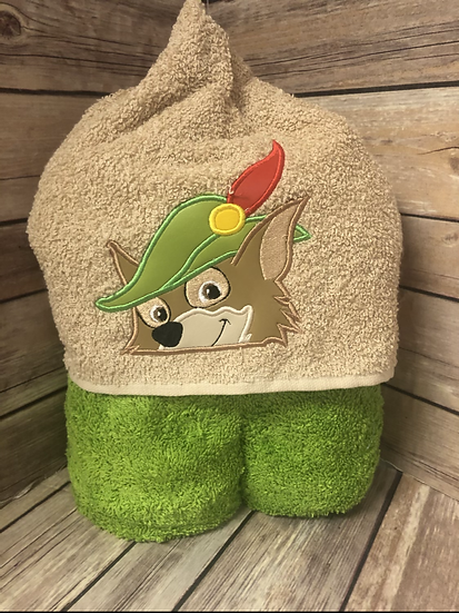 Robin Hood Child Size Hooded Towel - Ready to Ship