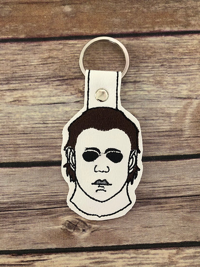 Michael Myers Mask Embroidered Key Chain