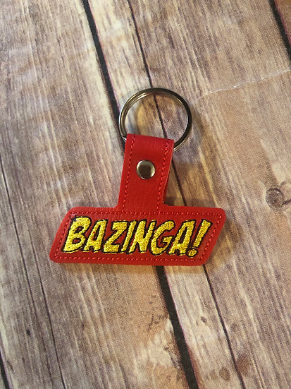 Bazinga Embroidered Key Chain