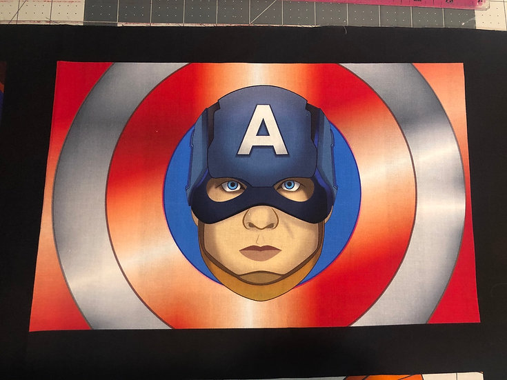 Captain America Themed Washable Fabric Face Mask - Elastic or Ties