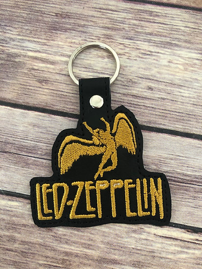 Led Zeppelin Embroidered Key Chain