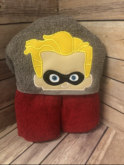 Dash Child Size Hooded Towel - Ready to Ship