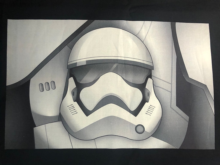 Storm Trooper Themed Washable Fabric Face Mask - Elastic or Ties