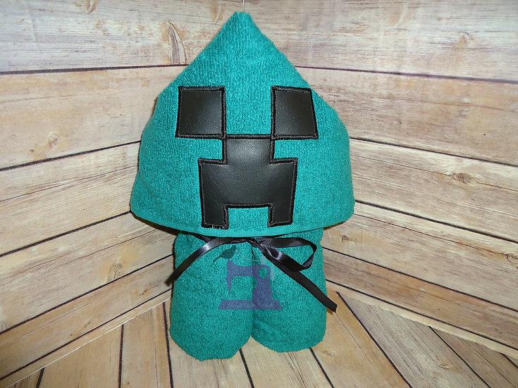 Minecraft Creeper Hooded Towel
