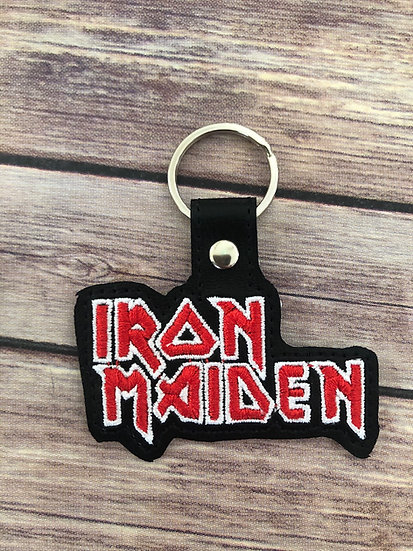 Iron Maiden Embroidered Key Chain