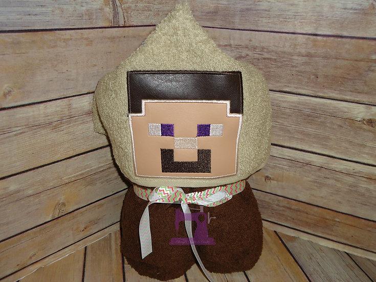 Minecraft Steve Hooded Towel
