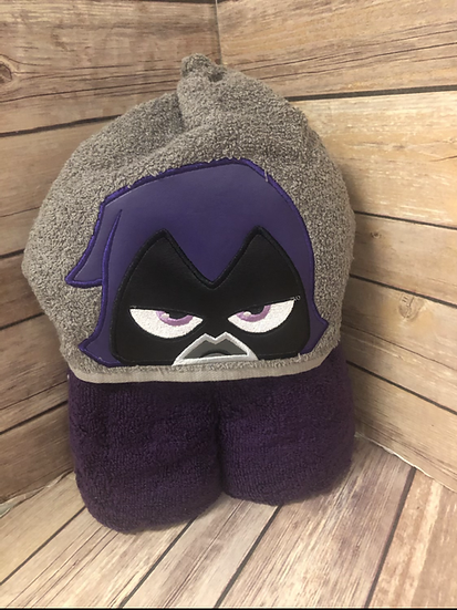 Raven Child Size Hooded Towel - Ready to Ship