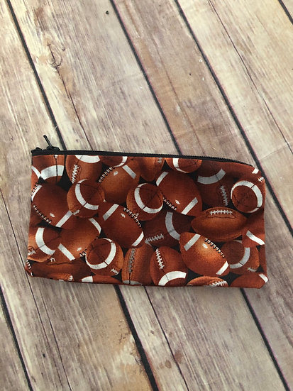 Football Zipper Pouch - Ready to Ship