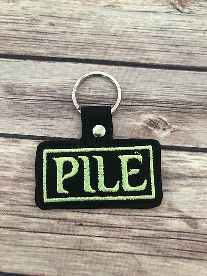 Pile Embroidered Key Chain